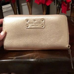 Used full-size Kate Spade wallet gold EUC